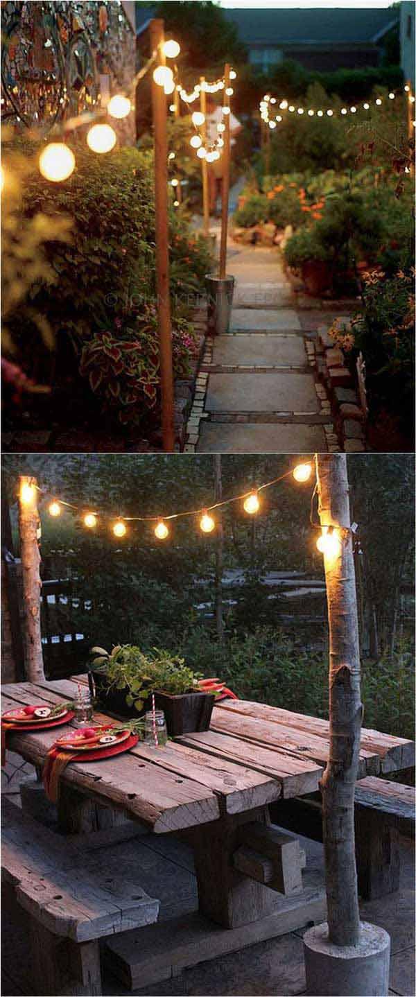 DIY Ιδέες προσθήκης φωτισμού αυλής10