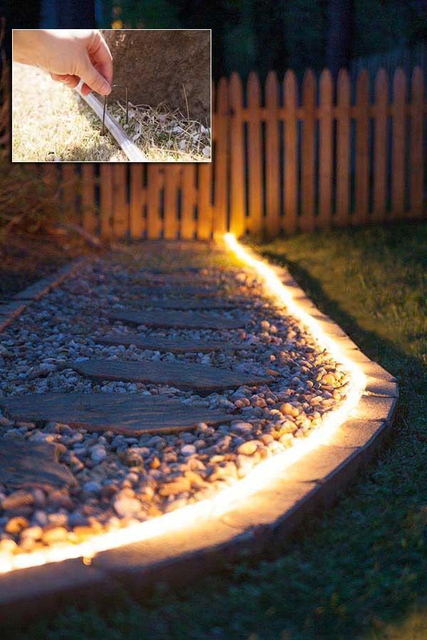DIY Ιδέες προσθήκης φωτισμού αυλής4