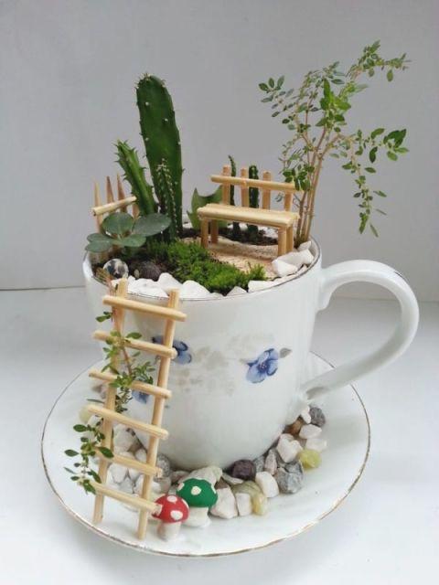 Diy μικροσκοπικοί κήποι6