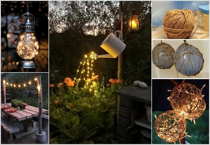 Φωτίστε τον κήπο σας με αυτά τα απίθανα DIY έργα Φωτισμού