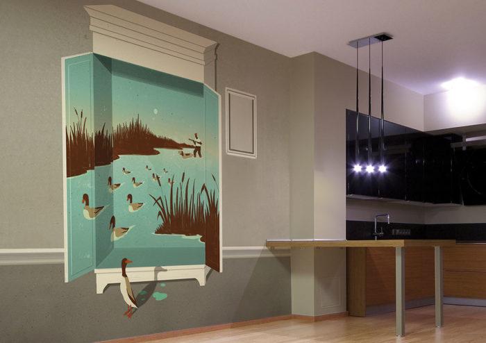 διακόσμηση τοίχου με ταπετσαρίες7