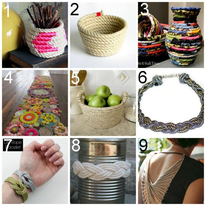 DIY ιδέες διακόσμησης από σχοινί1