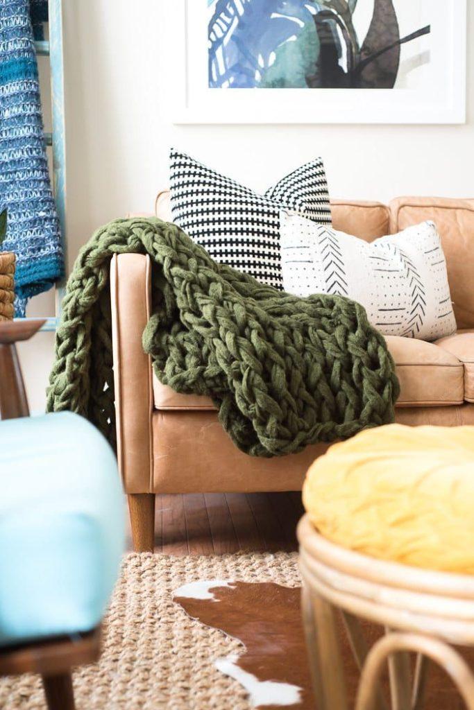 διακόσμηση με ριχτές κουβέρτες6