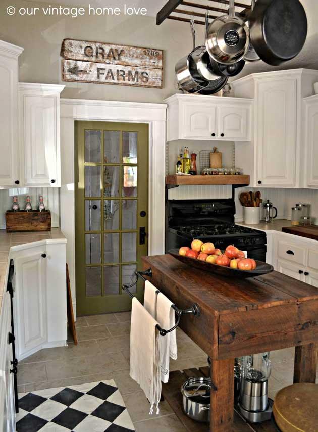 ρουστίκ, χωριάτικη διακόσμηση κουζίνας6