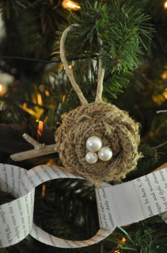 Χριστουγεννιάτικα στολίδια από λινάτσα15
