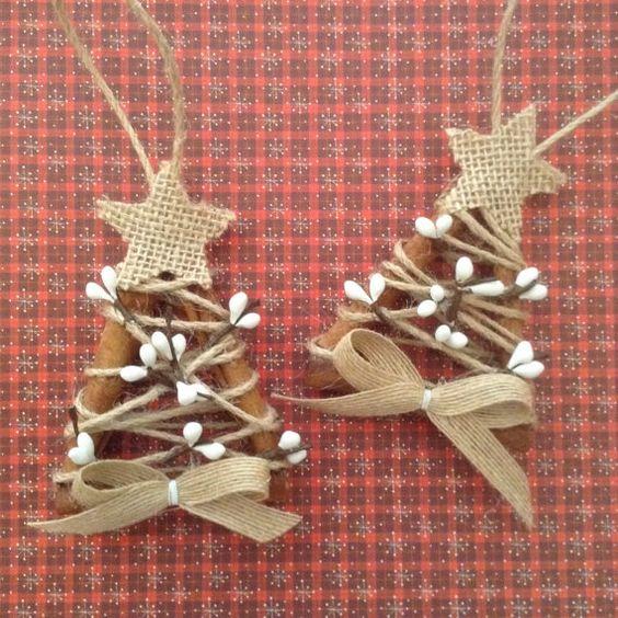 Χριστουγεννιάτικα στολίδια από λινάτσα33