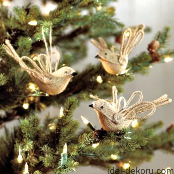 Χριστουγεννιάτικα στολίδια από λινάτσα44
