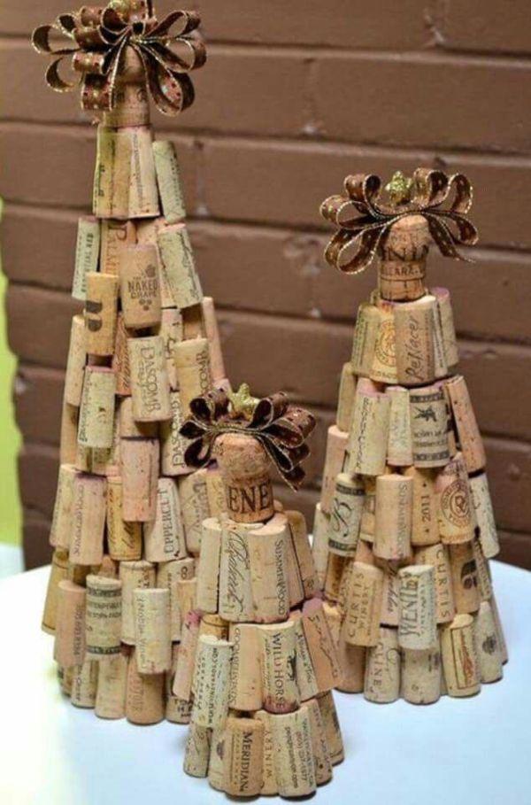 Χριστουγεννιάτικες διακοσμήσεις από πώματα φελλού19