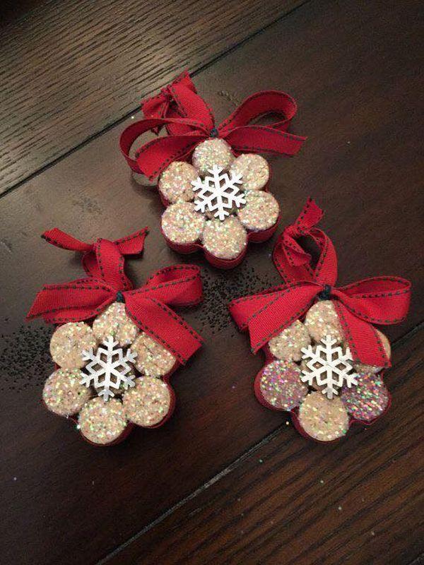 Χριστουγεννιάτικες διακοσμήσεις από πώματα φελλού20
