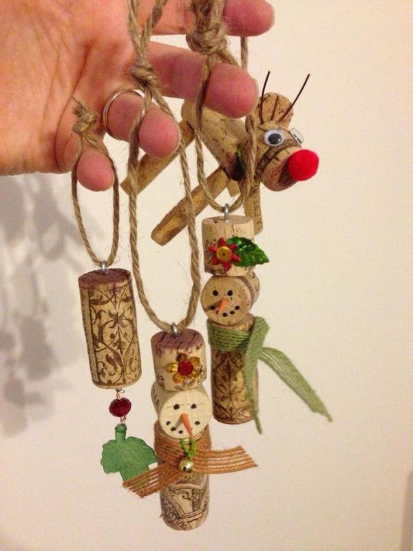 Χριστουγεννιάτικες διακοσμήσεις από πώματα φελλού26