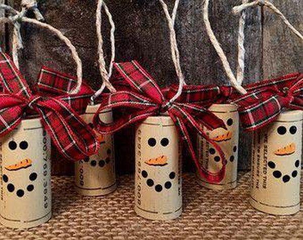 Χριστουγεννιάτικες διακοσμήσεις από πώματα φελλού3