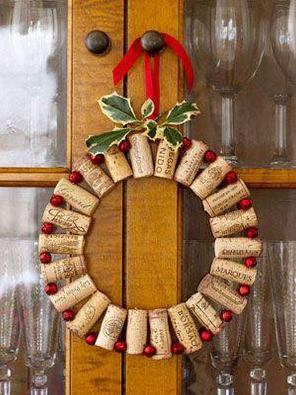 Χριστουγεννιάτικες διακοσμήσεις από πώματα φελλού5
