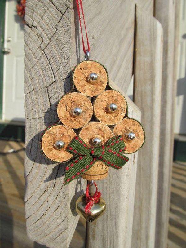 Χριστουγεννιάτικες διακοσμήσεις από πώματα φελλού8