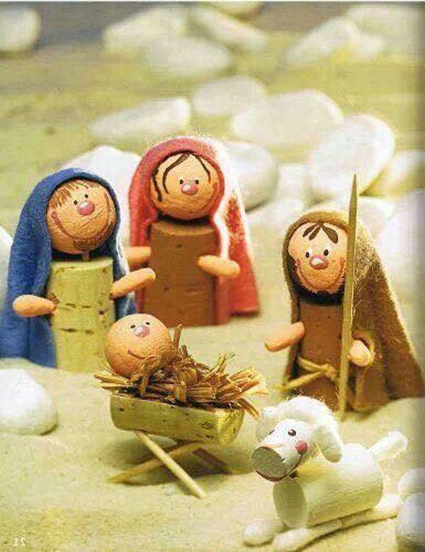 Χριστουγεννιάτικες διακοσμήσεις από πώματα φελλού9