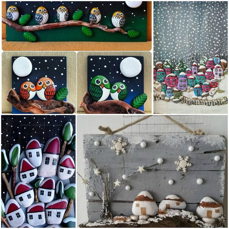 Χριστουγεννιάτικη ζωγραφική σε πέτρες και βότσαλα: 125 ιδέες για δημιουργικότητα με παιδιά