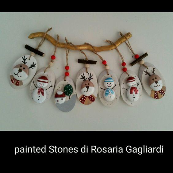 Χριστουγεννιάτικη ζωγραφική σε πέτρες και βότσαλα20