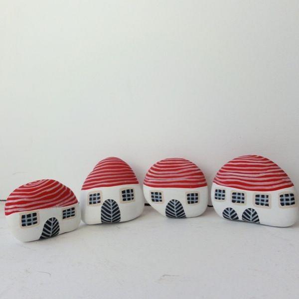 Χριστουγεννιάτικη ζωγραφική σε πέτρες και βότσαλα24