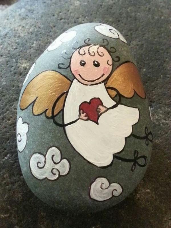 Χριστουγεννιάτικη ζωγραφική σε πέτρες και βότσαλα29