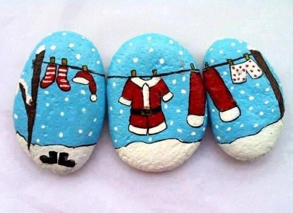 Χριστουγεννιάτικη ζωγραφική σε πέτρες και βότσαλα32