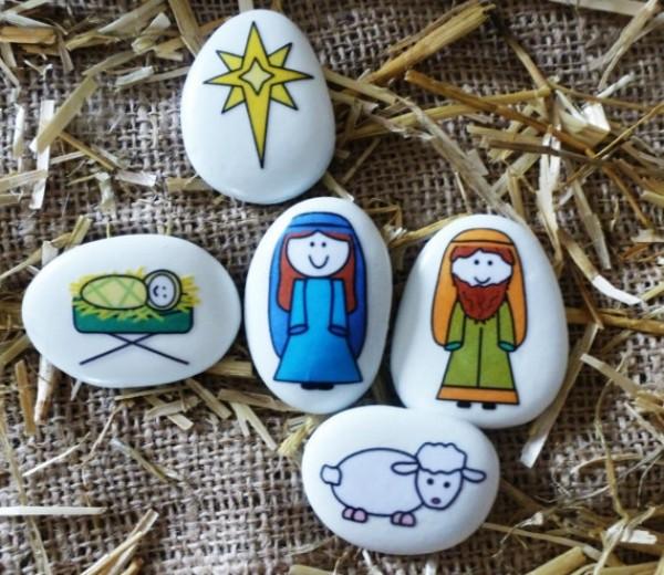 Χριστουγεννιάτικη ζωγραφική σε πέτρες και βότσαλα34