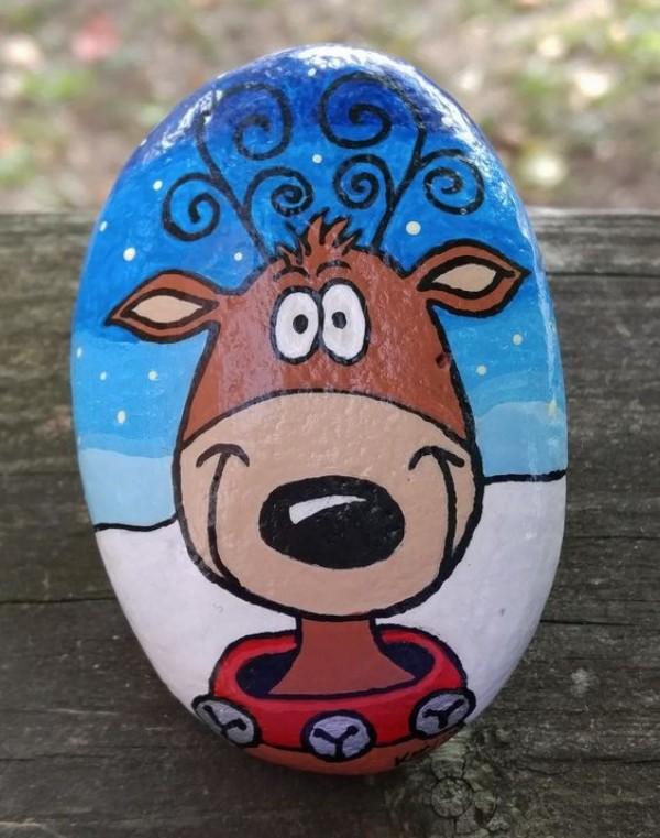 Χριστουγεννιάτικη ζωγραφική σε πέτρες και βότσαλα36