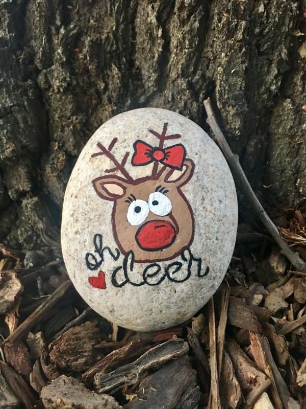Χριστουγεννιάτικη ζωγραφική σε πέτρες και βότσαλα45