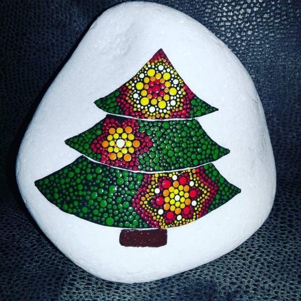 Χριστουγεννιάτικη ζωγραφική σε πέτρες και βότσαλα48
