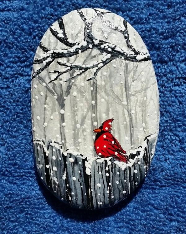 Χριστουγεννιάτικη ζωγραφική σε πέτρες και βότσαλα51