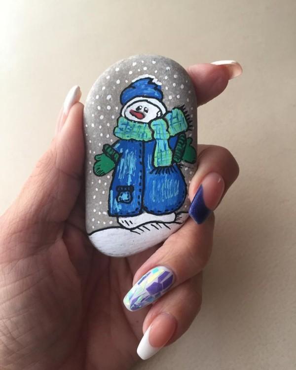 Χριστουγεννιάτικη ζωγραφική σε πέτρες και βότσαλα54
