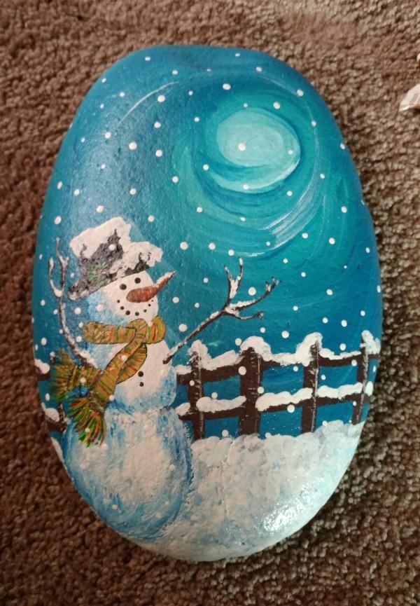 Χριστουγεννιάτικη ζωγραφική σε πέτρες και βότσαλα56