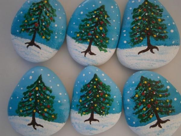 Χριστουγεννιάτικη ζωγραφική σε πέτρες και βότσαλα58