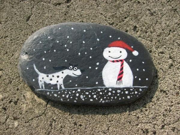 Χριστουγεννιάτικη ζωγραφική σε πέτρες και βότσαλα67