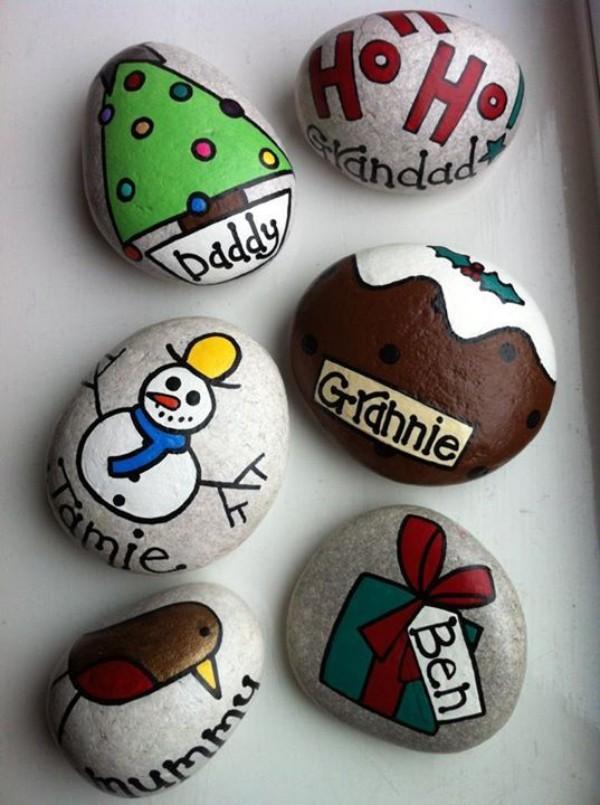 Χριστουγεννιάτικη ζωγραφική σε πέτρες και βότσαλα71