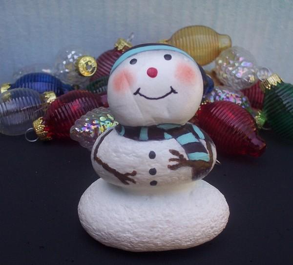 Χριστουγεννιάτικη ζωγραφική σε πέτρες και βότσαλα79