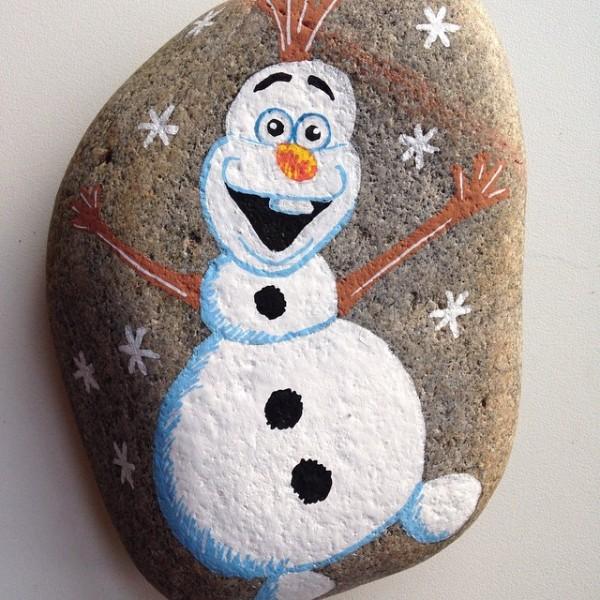 Χριστουγεννιάτικη ζωγραφική σε πέτρες και βότσαλα8