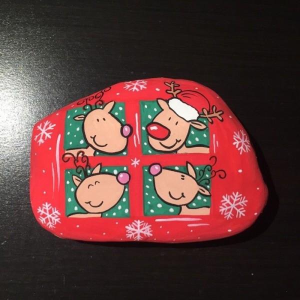 Χριστουγεννιάτικη ζωγραφική σε πέτρες και βότσαλα81