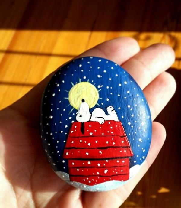 Χριστουγεννιάτικη ζωγραφική σε πέτρες και βότσαλα88