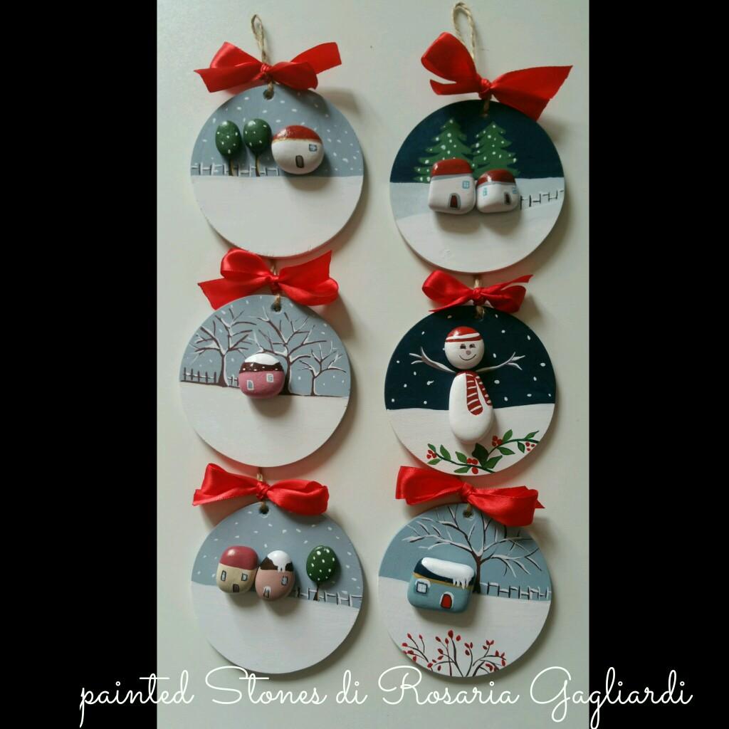 Χριστουγεννιάτικη ζωγραφική σε πέτρες και βότσαλα9