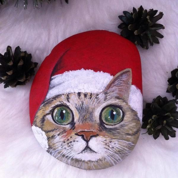 Χριστουγεννιάτικη ζωγραφική σε πέτρες και βότσαλα92