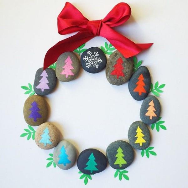 Χριστουγεννιάτικη ζωγραφική σε πέτρες και βότσαλα94