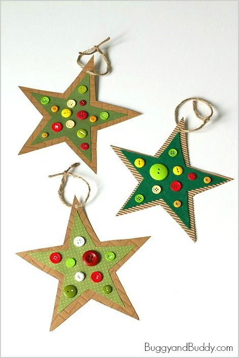DIY κατασκευές από κουμπιά για τα Χριστούγεννα14