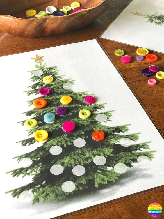 DIY κατασκευές από κουμπιά για τα Χριστούγεννα18