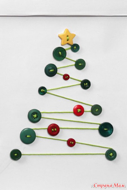 DIY κατασκευές από κουμπιά για τα Χριστούγεννα25