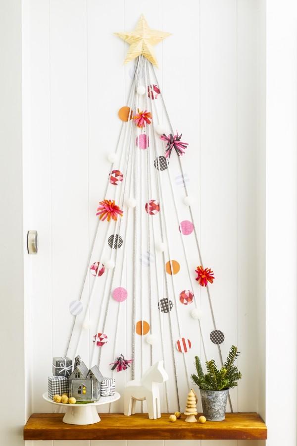 DIY χριστουγεννιάτικα δέντρα11
