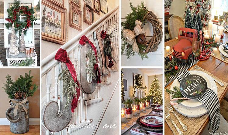Rustic χωριάτικη Χριστουγεννιάτικη διακόσμηση