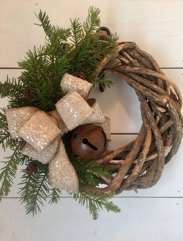 Rustic χωριάτικη Χριστουγεννιάτικη διακόσμηση13