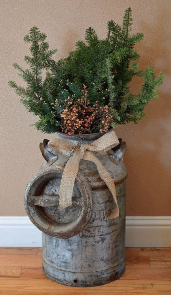 Rustic χωριάτικη Χριστουγεννιάτικη διακόσμηση14