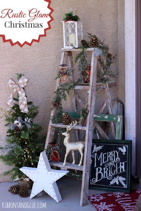 Rustic χωριάτικη Χριστουγεννιάτικη διακόσμηση15