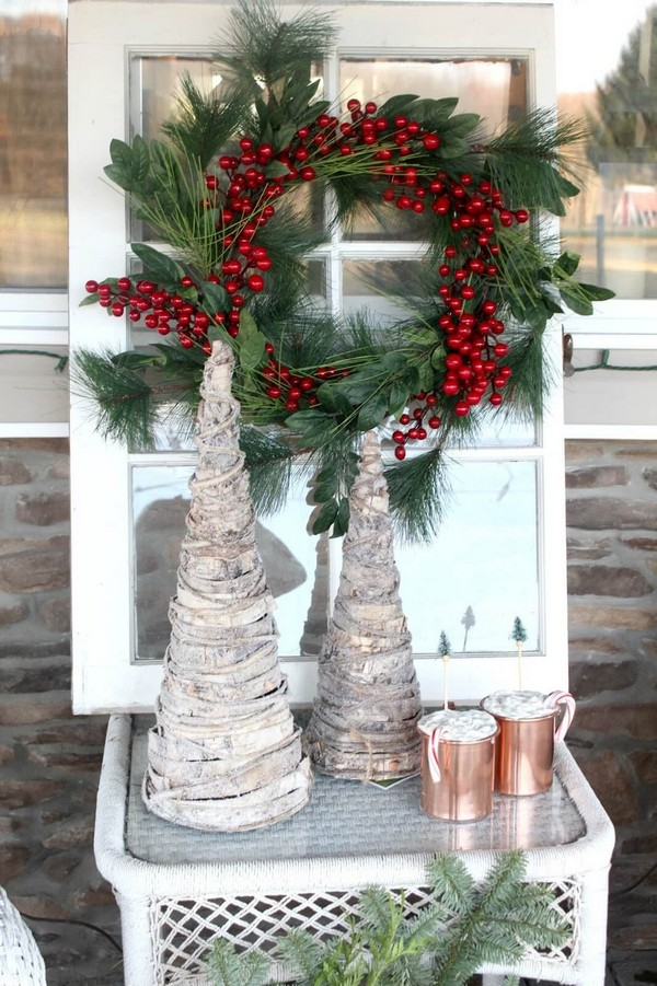 Rustic χωριάτικη Χριστουγεννιάτικη διακόσμηση17