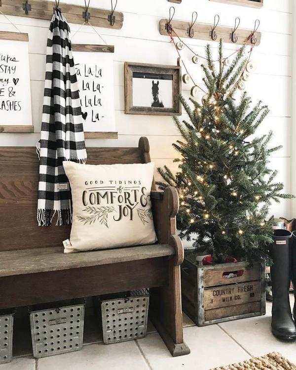 Rustic χωριάτικη Χριστουγεννιάτικη διακόσμηση18